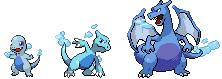 Ice Charmander Evolution Chain by TankerFishyGal