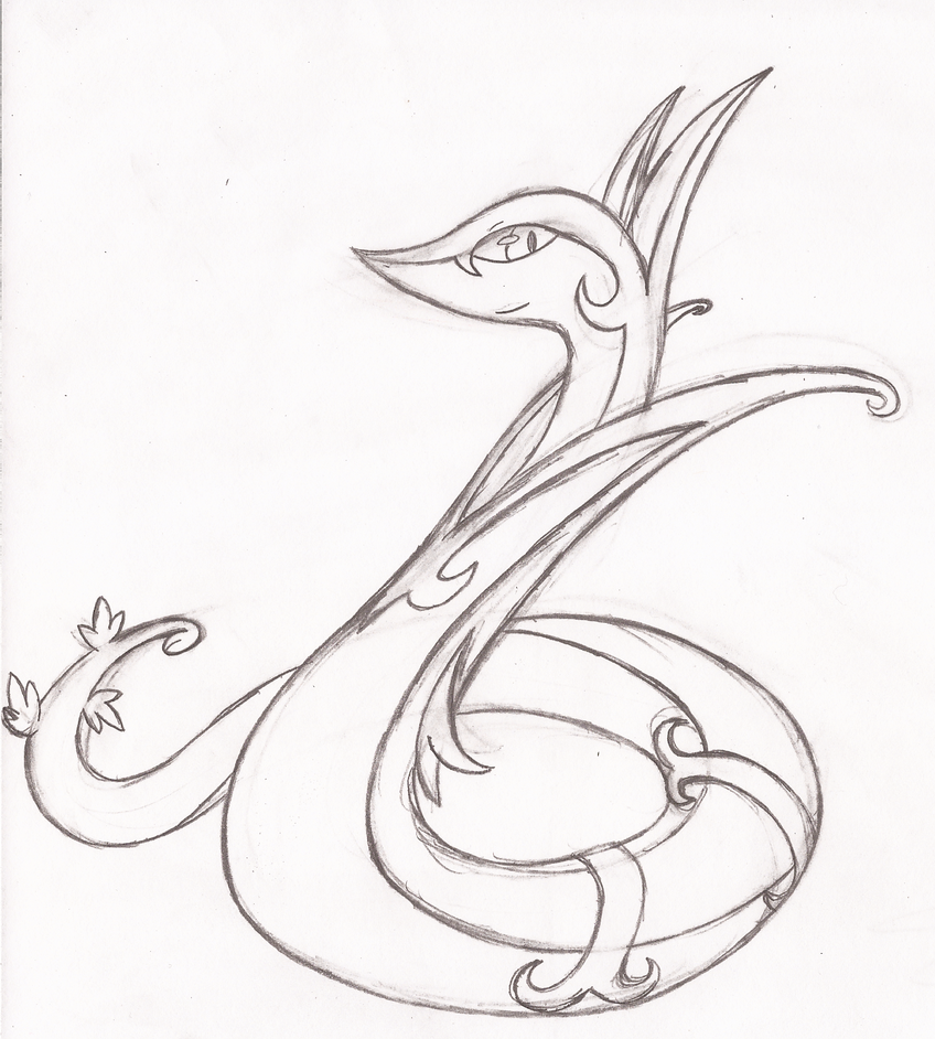 pokemon serperior coloring pages - photo#23