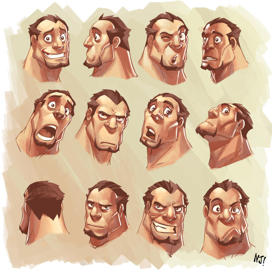 Character Design References Tumblr : Expressions by njay on deviantart