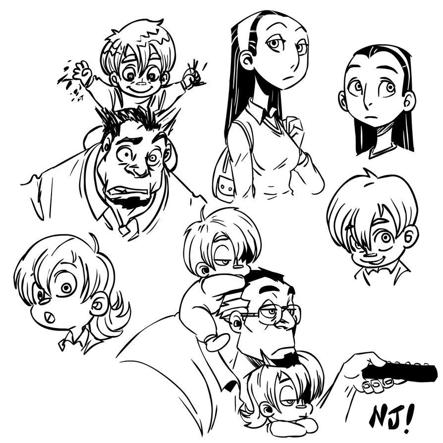 Family Sketch By Njay On DeviantArt