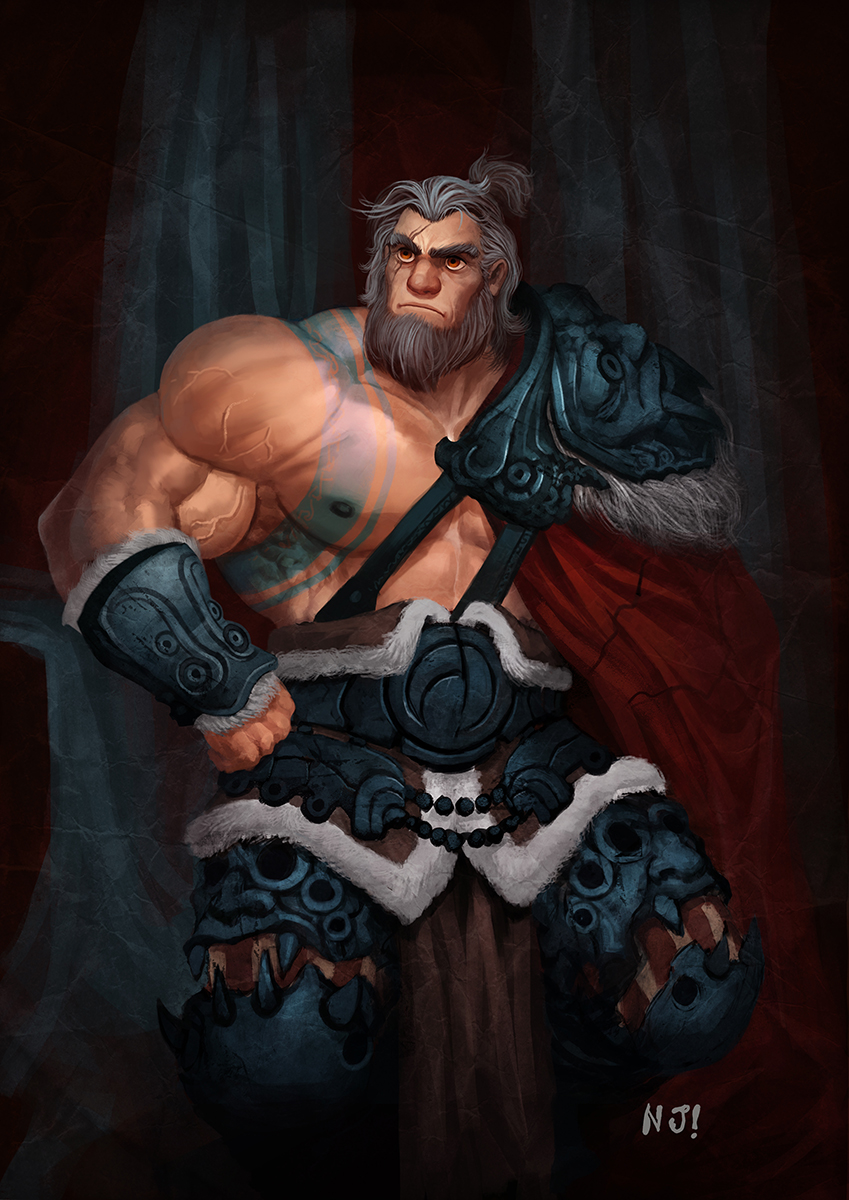 Barbarian portrait by njay