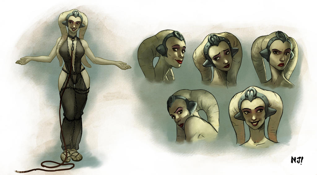 Oola, Twi'lek Slave Dancer by njay