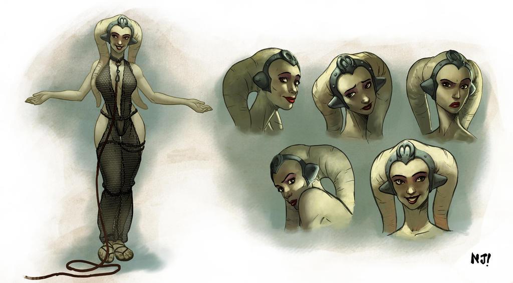 Oola, Twi'lek Slave Dancer by njay