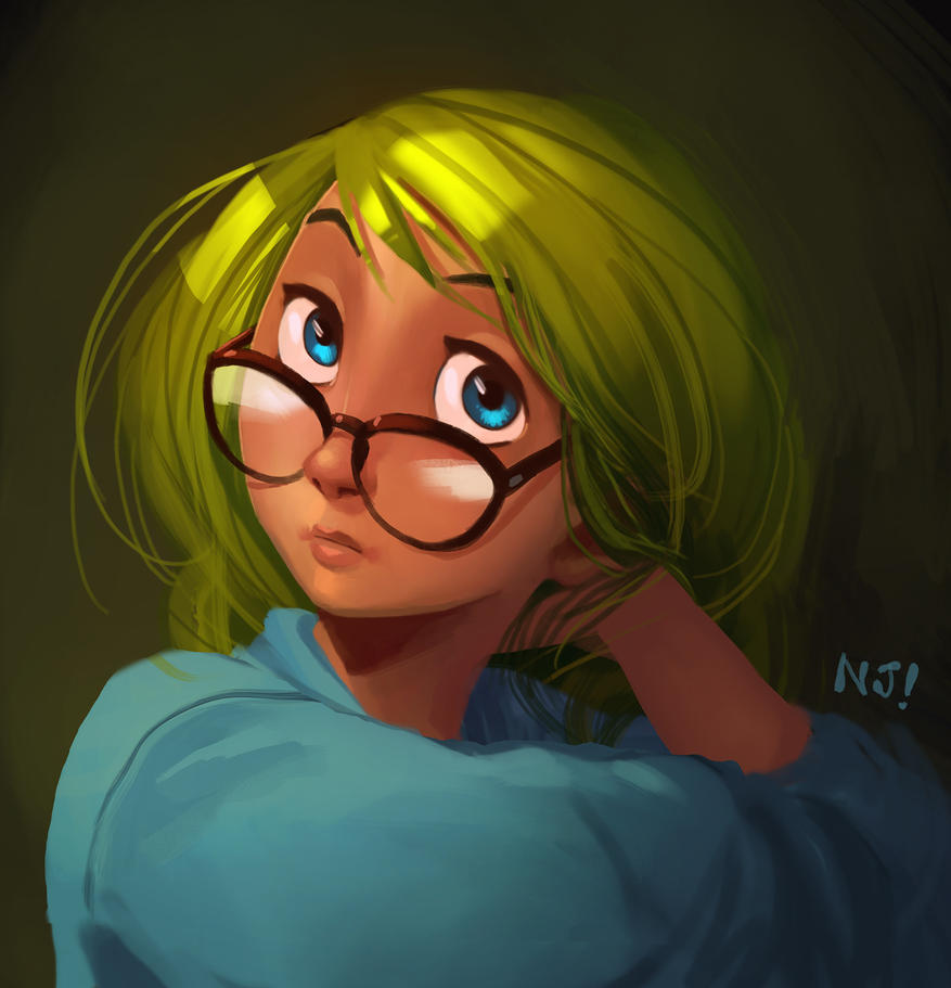 Wondering girl by njay