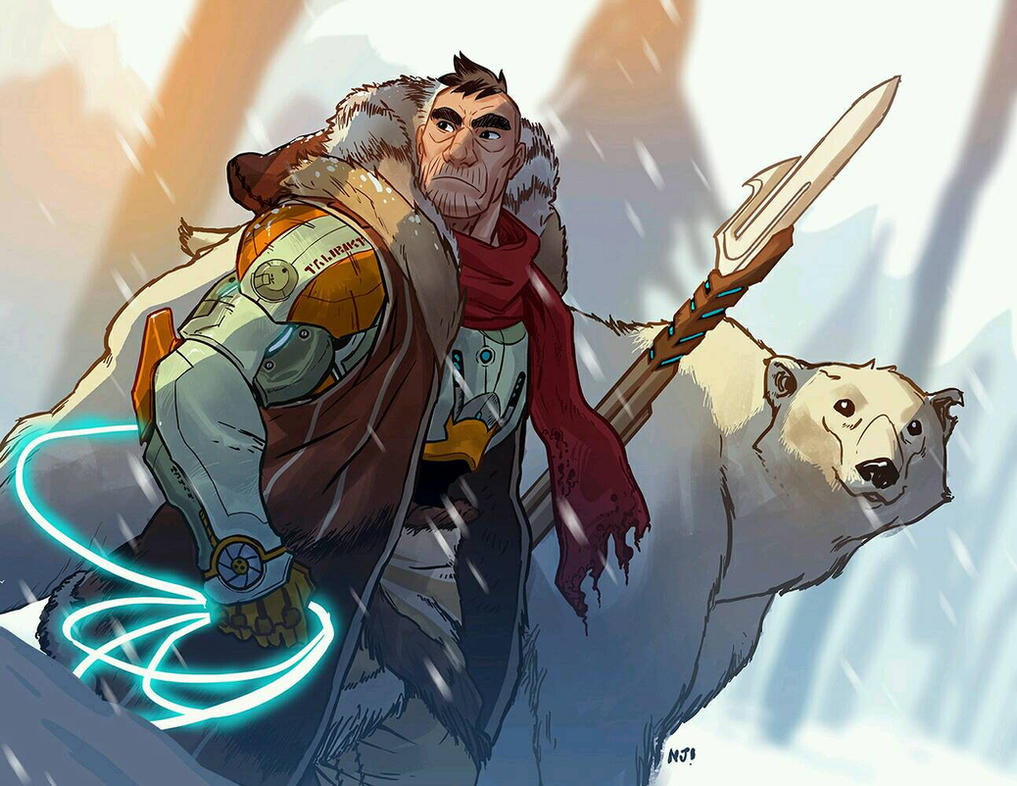 A guy and a bear by njay