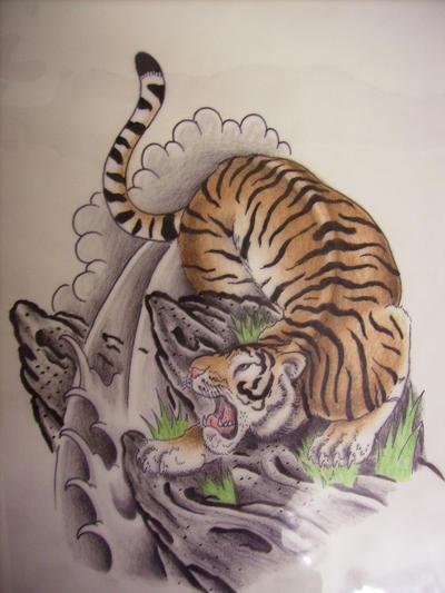 tiger drawing by BlackRainTattoos on DeviantArt