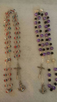 Rosary style neclaces