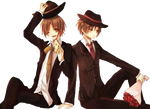 hetalia render } North Italy and South Italy 2