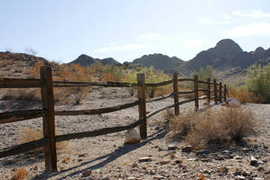 Fence and Mountain by TikerenQ