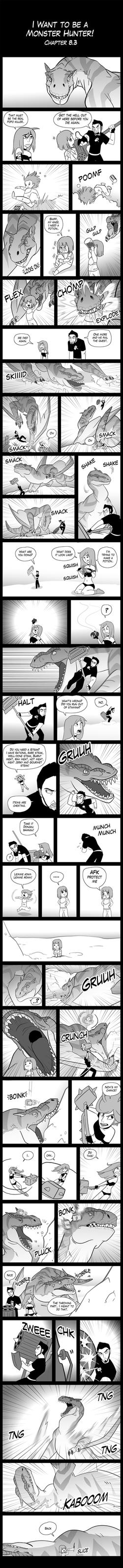 I Want to be a Monster Hunter! 8-3 by macawnivore