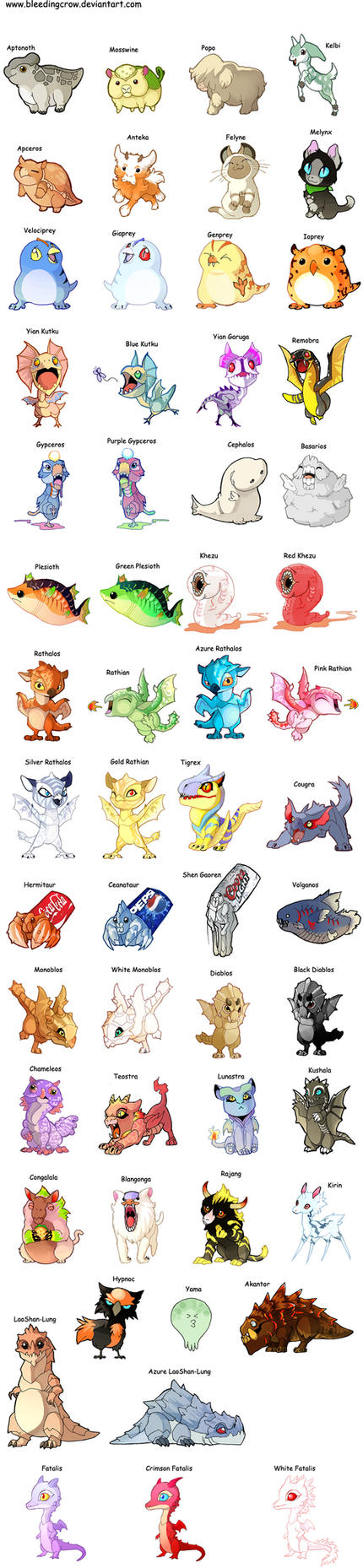 Baby Monsters by macawnivore