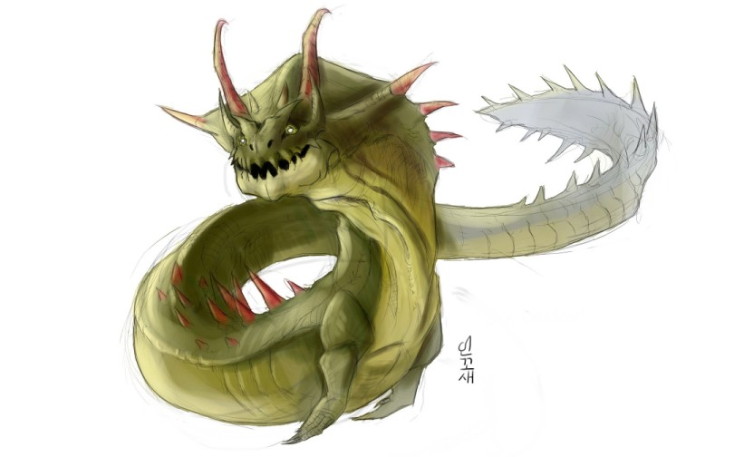 Monster Hunter 3 Sea Dragon by macawnivore