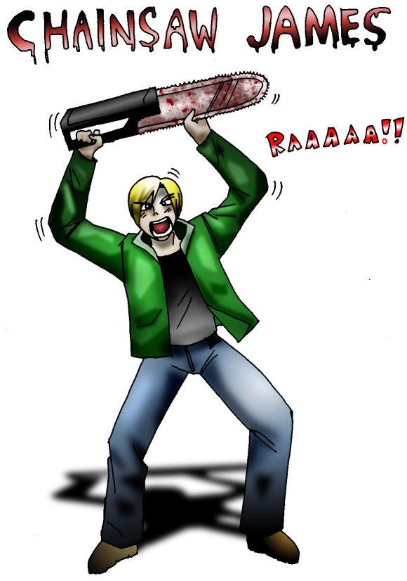 Chainsaw james by macawnivore on deviantart