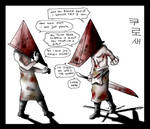 Topless Pyramid Head angry