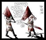 Topless Pyramid Head angry