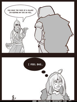 Skyrim Comic Face of a Killer by macawnivore