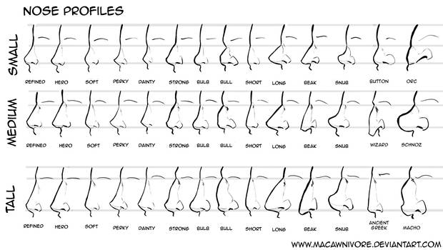 Nose Chart Reference