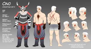 Monster Hunter Character Sheet - Cino (spoilers)