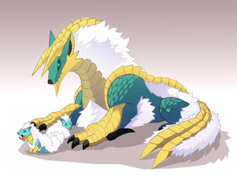 Zinogre family by macawnivore