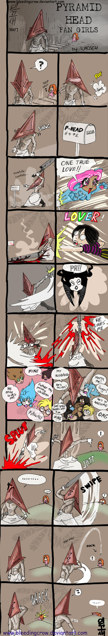 PYRAMID HEAD FANGIRLS by macawnivore