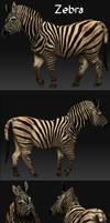 Zeeeeebra 3D game Model