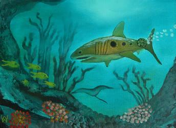 Shark Submarine by WilliamSnape