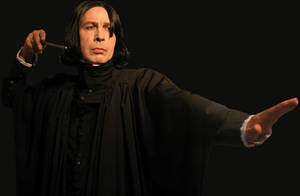 WilliamSnape with his wand