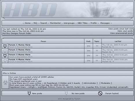 Hot Boy Designz Forum by fusionXL