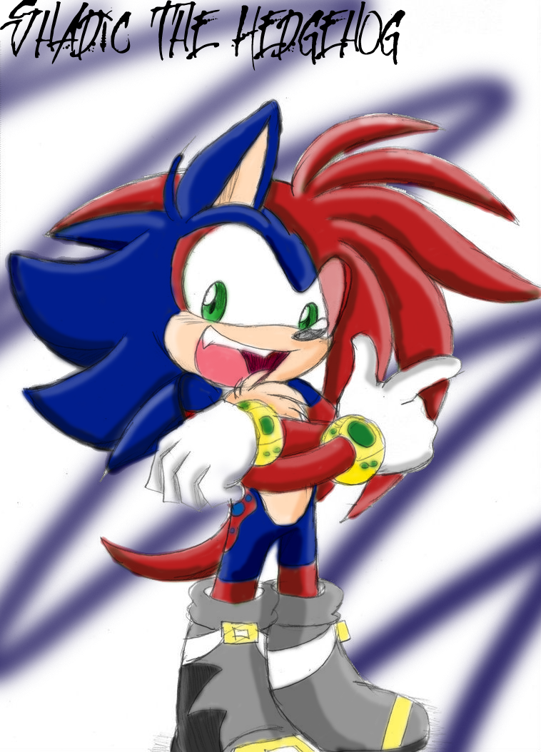 Shadic the hedgehog ( Colored Correctly ) by Krispina-The ...