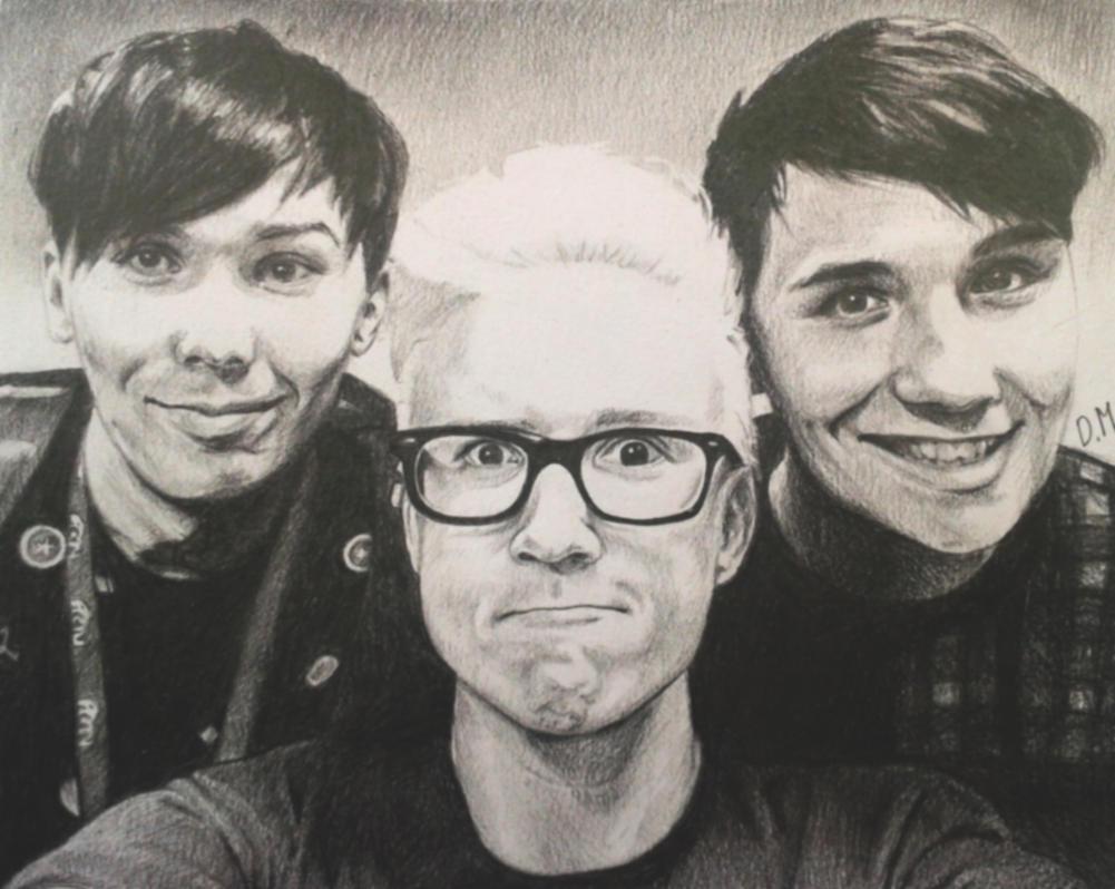 Phil, Tyler and Dan by DraconaMalfoy
