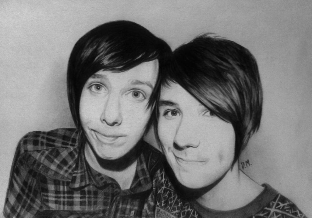 Dan and Phil by DraconaMalfoy