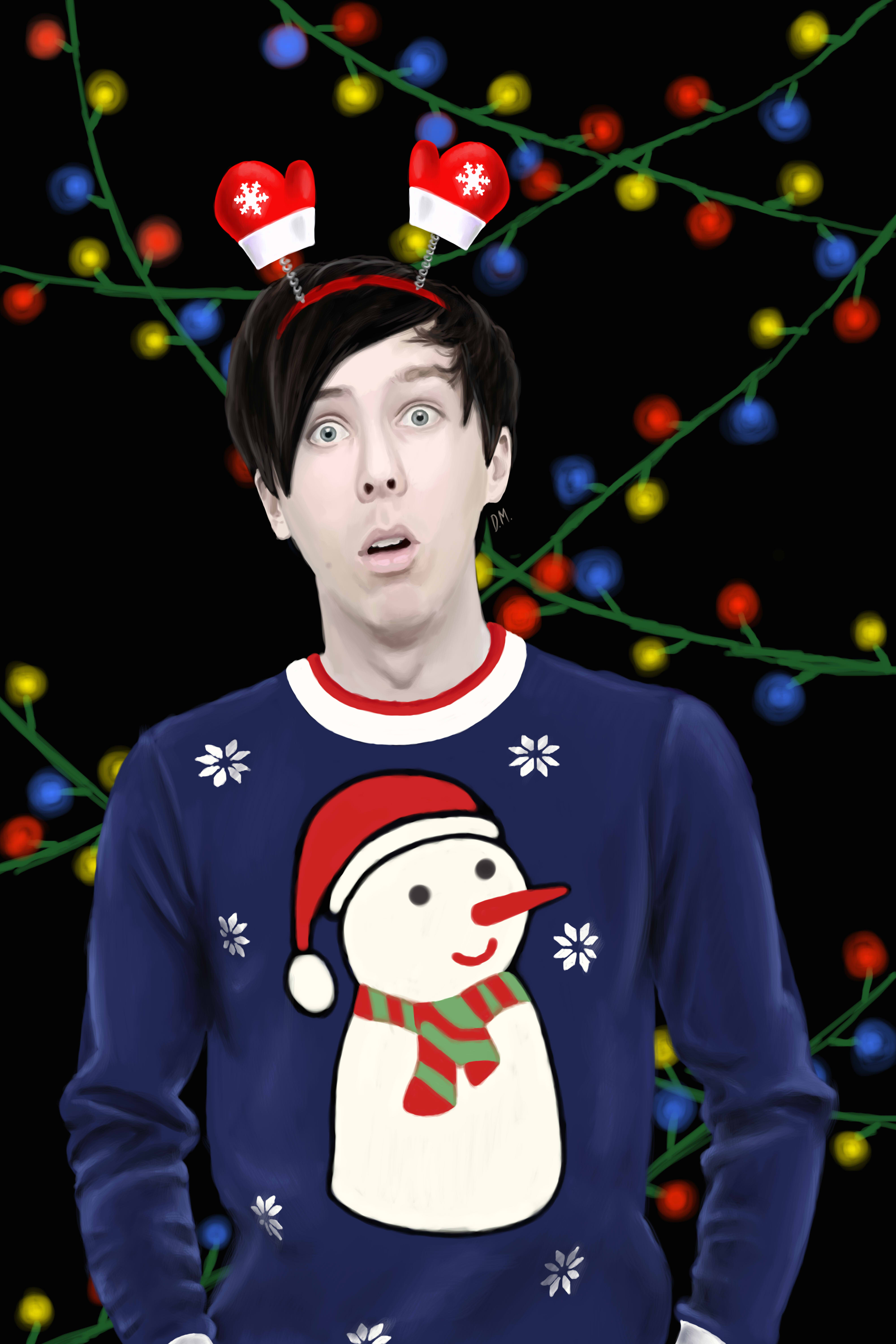 Dan And Phil Christmas Sweater.Phil Lester Christmas Edition By Draconamalfoy On Deviantart