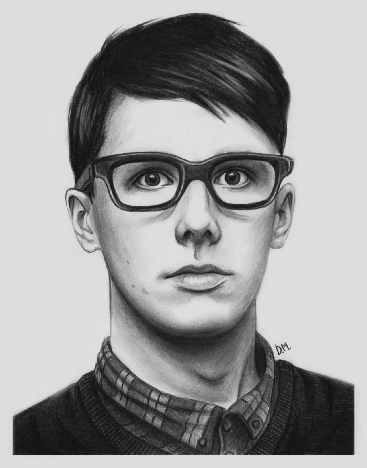 Day 3 - Drawing of Dan and Phil morphed together by DraconaMalfoy