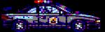 8-bit RoboCop in his car by Carnivius