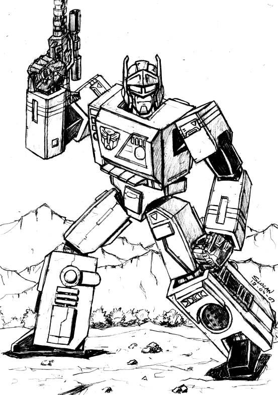 Transformers g1 blaster by carnivius on deviantart for Transformers g1 coloring pages