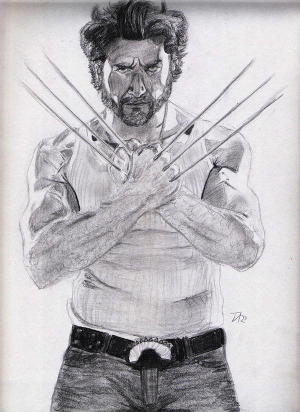 how to draw logan wolverine