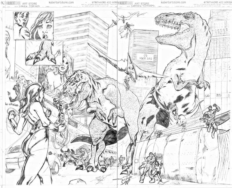 Dinosaurs in the City by dtor91