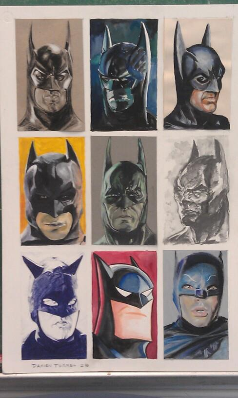 9 Batmen by dtor91