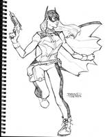Batgirl Sketch by dtor91
