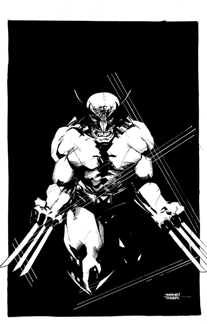 Wolverine Homage Commission (after Frank Miller) by dtor91