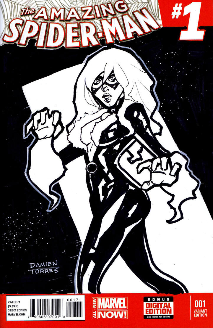 Black Cat Sketch Cover Commission by dtor91