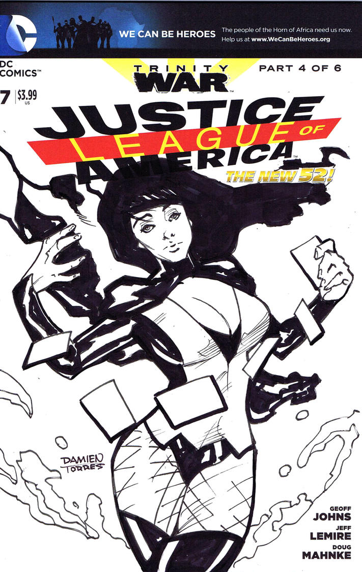 Zatanna Sketch Cover Commission by dtor91