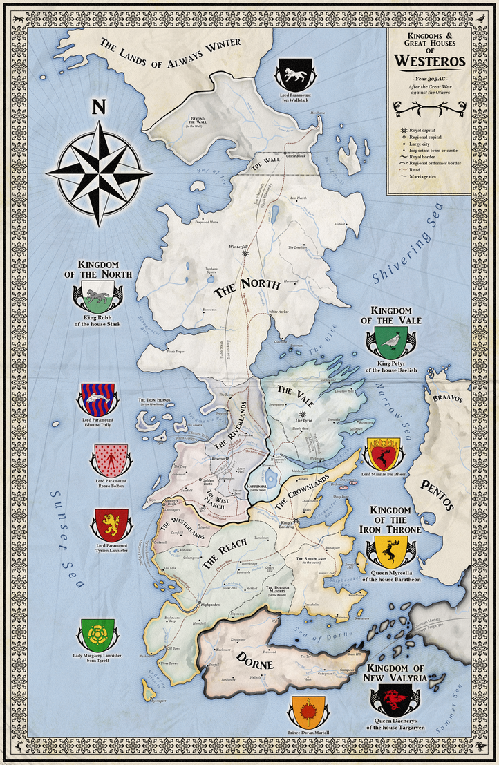 Alternative map of Westeros Game of Thrones by ZalringDA on DeviantArt