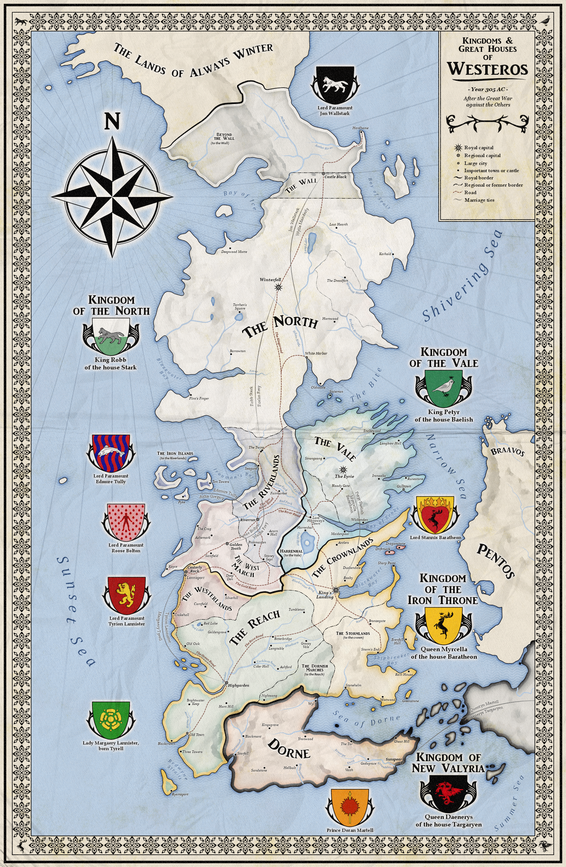 map of westeros game of thrones by zalringda on deviantart