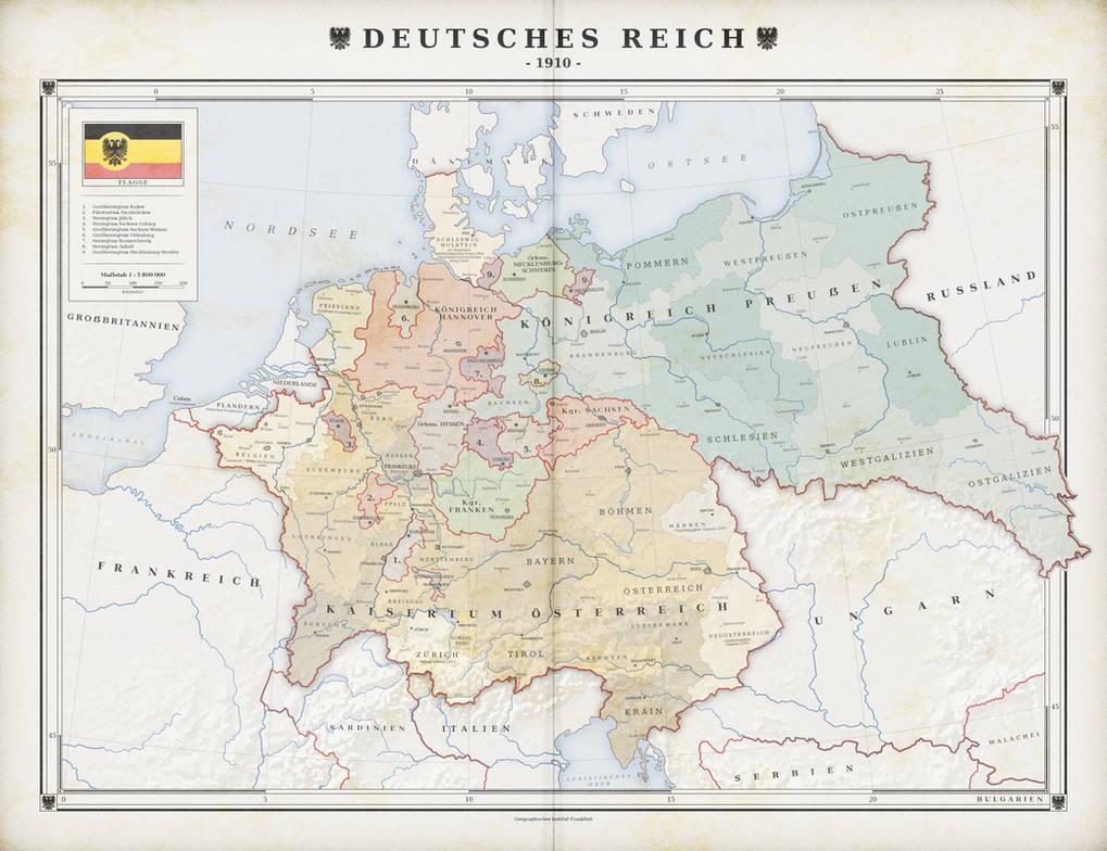 German Empire unified by Austria (alt. history) by ZalringDA