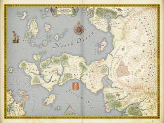 The Cronsland Peninsula (fantasy map) by ZalringDA