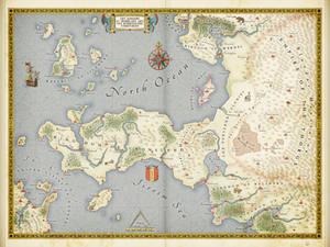 The Cronsland Peninsula (fantasy map)