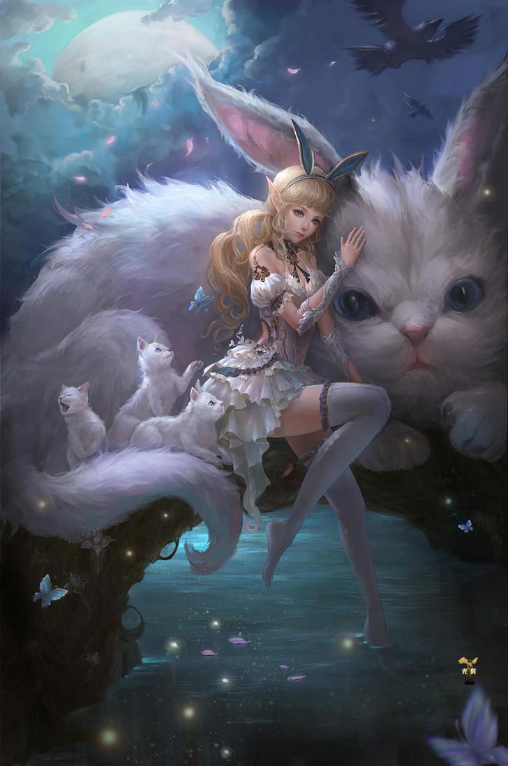 Cats Girl by GjschoolArt