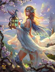 Fairy and dragon by gyxycn