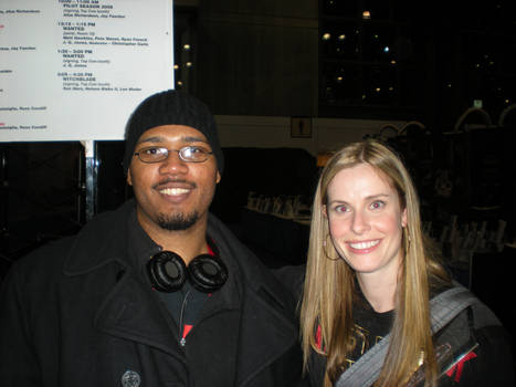 Myself and Blair Butler